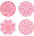 Indian ornament kaleidoscopic floral pattern vector image