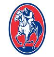 jockey riding horse vector image vector image