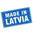 Latvia blue square grunge made in stamp vector image vector image