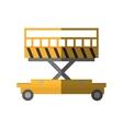 lifting platform trolley stock warehouse shadow vector image