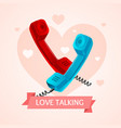 love talk old phone concept vector image vector image