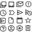mail symbols vector image vector image