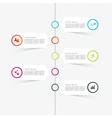 Minimal infographics design vector image
