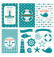 nautical bashower cards sea theme baparty vector image