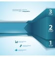 One two three info-graphics ribbons vector image vector image