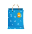 paper shopping bag isolated on white vector image