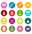 pirate icons many colors set vector image vector image