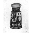 poster pepper castor spice vector image