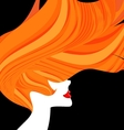 red-haired head of a woman vector image vector image