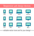 responsive design icons flat vector image