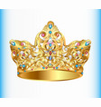 royal golden crown vector image vector image