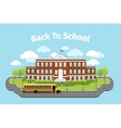 School building Background with graduation vector image vector image