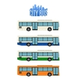 set four city bus icons vector image vector image