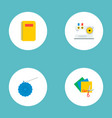 set of handcraft icons flat style symbols with vector image vector image