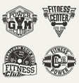 set of vintage emblems vector image vector image