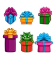 Set with gift box vector image vector image