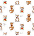 shiba inu dog cute pattern background vector image