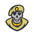 skull soldier cartoon vector image vector image