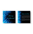 square cover with neon light vector image vector image