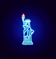 statue liberty neon sign vector image vector image