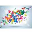 Summer background with butterflies vector image vector image