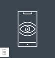 surveillance smartphone thin line icon vector image vector image