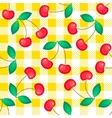 Tartan plaid with cherries seamless pattern vector image vector image