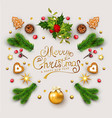 template for christmas and new year with vector image vector image
