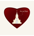 Temple of God in Heart vector image