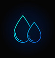 two water drops colorful icon vector image