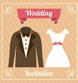 wedding label vector image vector image