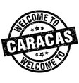 welcome to caracas black stamp vector image vector image