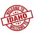 welcome to idaho red stamp vector image vector image