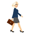 young businesswoman walking forward vector image