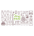 zero waste lifestyle hand drawn set vector image vector image