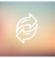 Arrow thin line icon vector image