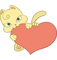kitten with heart vector image