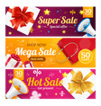 big sale banner card horizontal set vector image