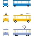 transport set color 01 vector image