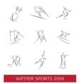 Winter sports icon set vector image