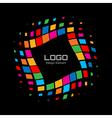 Abstract Bright Rainbow Halftone Logo vector image vector image