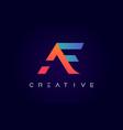 af logo letter design with modern creative
