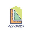 architecture and building construction logo vector image