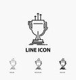 award competitive cup edge prize icon in thin vector image vector image