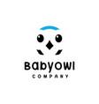 baby owl logo vector image vector image