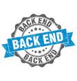 back end stamp sign seal vector image vector image