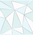 blue and white polygonal background vector image vector image