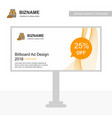 business bill board design with labour jacket logo vector image vector image
