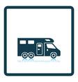 Camping family caravan icon vector image vector image