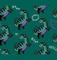 cartoon dinosaurs seamless pattern for kid vector image vector image